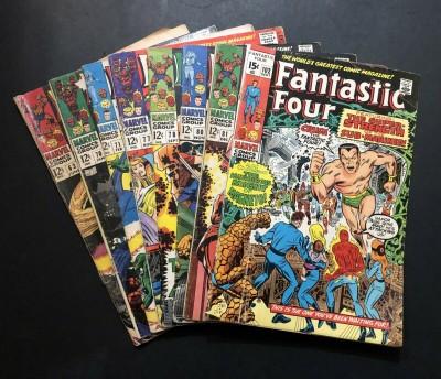 Fantastic Four (1961) #63 70 71 77 78 80 81 102 Reader lot 8 comics