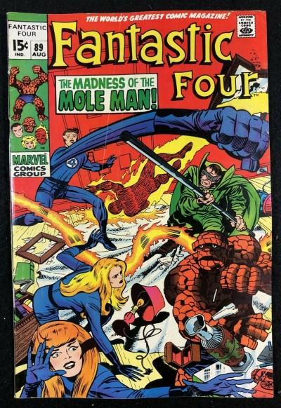 Fantastic Four (1961) #89 VG/FN (5.0) Mole Man appearance