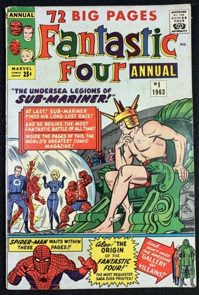 Fantastic Four (1961) Annual #1 VG+ (4.5) Sub-Mariner cover