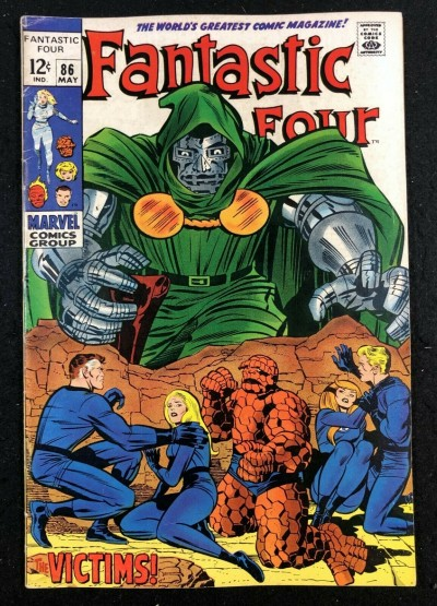 Fantastic Four (1961) #86 FN- (5.5) Doctor Doom Cover & Appearance