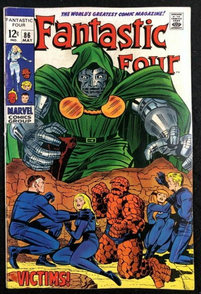 Fantastic Four (1961) #86 FN- (5.5) Doctor Doom Cover and Story