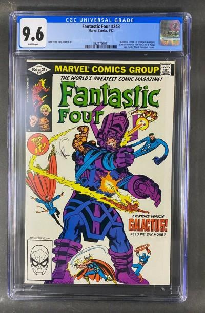 Fantastic Four (1961) #243 CGC 9.6 Galactus Spidey Daredevil Byrne (3824796011)