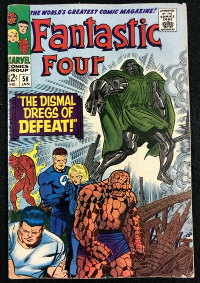 Fantastic Four (1961) #58 VG/FN (5.0) Doom Steals Silver Surfers powers pt 1/4