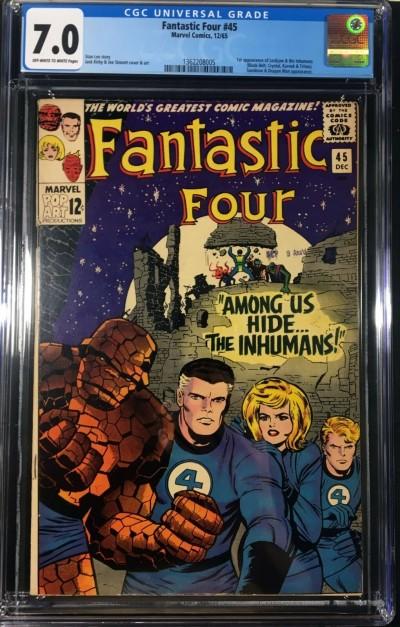 Fantastic Four (1961) #45 CGC 7.0 1st appearance Inhumans (1362208005)