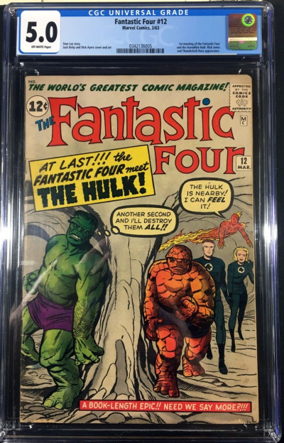 Fantastic Four (1961) #12 CGC 5.0 1st encounter with The Hulk (0342136005)