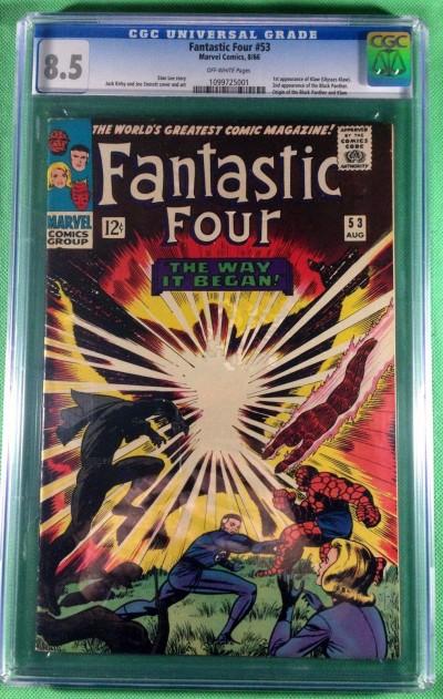 Fantastic Four (1961) 53 CGC 8.5 1st app Klaw 2nd app Black Panther (1099725001)