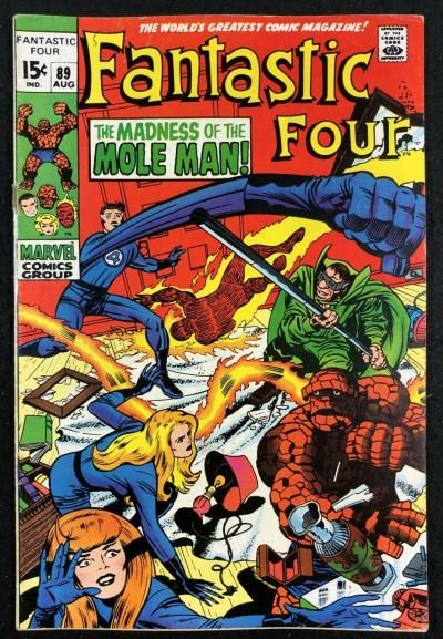 Fantastic Four (1961) #89 VG/FN (5.0) Mole Man app