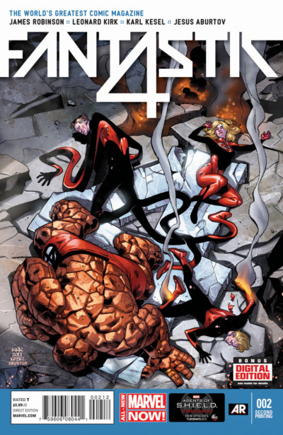 FANTASTIC FOUR (2014) #2 VF- 2ND PRINTING MARVEL NOW!