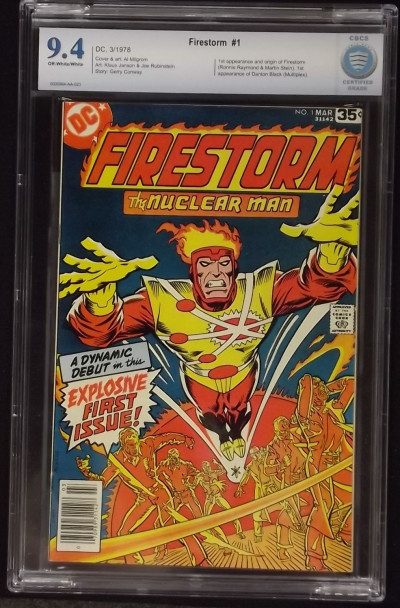FIRESTORM (1978) #1 CBCS GRADED 9.4 1ST APP FIRESTORM OFF-WHITE TO WHITE CGC