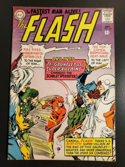 Flash Comics #155 (1965) F+ (6.5) Rogues Gallery Gauntlet of Super Villains|