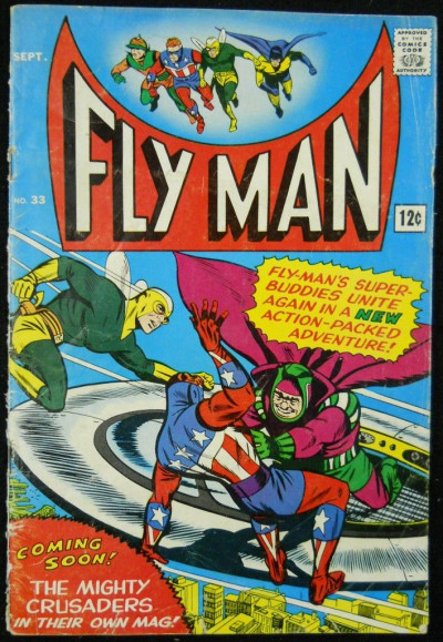 FLY MAN #33 GD+ ARCHIE COMICS