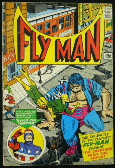 FLY MAN #34 VG- ARCHIE COMICS