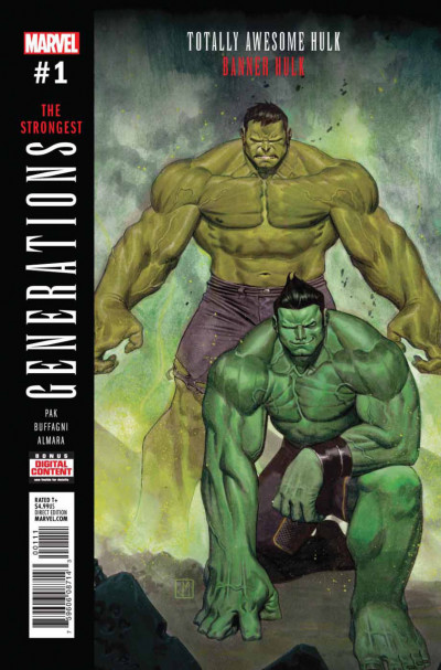 Generations: Banner Hulk & Totally Awesome Hulk (2017) #1 VF/NM Jorge Molina