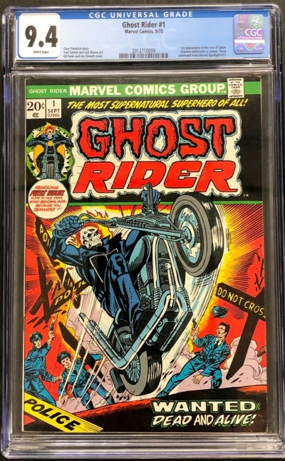 Ghost Rider (1973) #1 CGC 9.4 white page 1st app Son of Satan (2012710009)