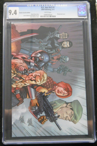 G.I. JOE VOLUME 2 #1 CGC GRADED 9.4 RETAILER VARIANT