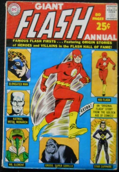 GIANT FLASH ANNUAL #1 VG ORIGIN ELONGATED MAN & KID FLASH; ORIGIN GRODD GA FLASH