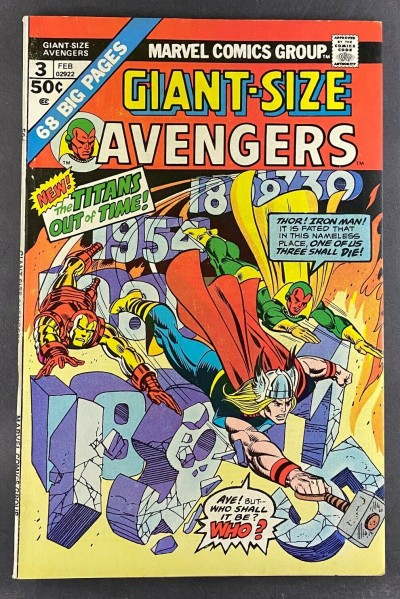 Giant-Size Avengers (1974) #3 FN/VF (7.0) Gil Kane Dave Cockrum