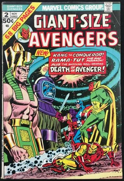 Giant-Size Avengers (1974) #2 FN+ (6 5) Rama-Tut Kang app Death of Swordsman
