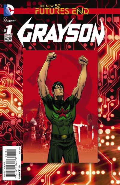 GRAYSON: FUTURES END (2014) #1 VF/NM STANDARD COVER THE NEW 52!