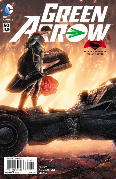 Green Arrow (2011) #50 VF/NM SUPERMAN V BATMAN VARIANT