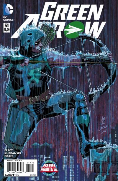 Green Arrow (2011) #51 VF/NM John Romita Jr Variant Cover