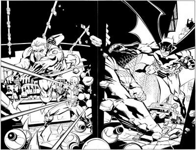 Green Arrow #71 DPS pgs 2 & 3 Batman Green Arrow Splash McDaniel Original Art