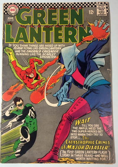 Green Lantern (1960) #43 VG (4.0) Flash appearance & cover