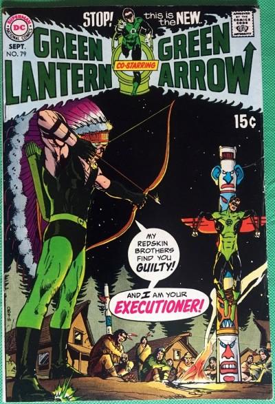 Green Lantern (1960) #79 with Green Arrow FN/VF (7.0) classic Adams & O'Neil