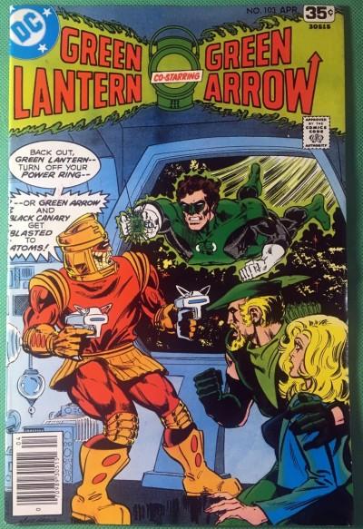 Green Lantern (1960) 103 VF+ (8.5) w/Green Arrow & Black Canary Mike Grell cover