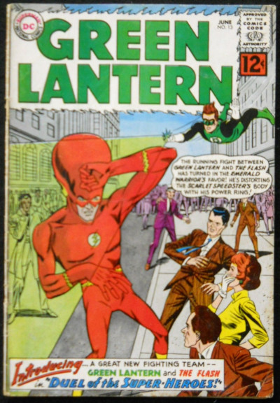 GREEN LANTERN #13 VG FLASH X-OVER