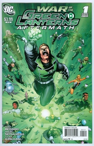 GREEN LANTERN WAR OF THE GL'S AFTERMATH #1 NM VARIANT