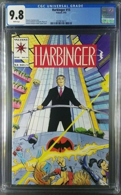 Harbinger #15 (1993) #1 CGC 9.8 1st app Livewire Valiant Comics (2039616013)|
