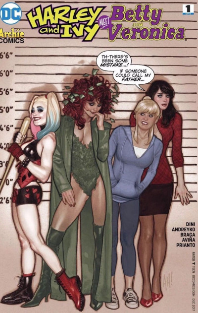 Harley and Ivy Meet Betty and Veronica (2017) #1 VF/NM Adam Hughes Variant