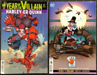 Harley Quin (2016) #67 NM (9.4) regular & variant cover set Year of the Villain