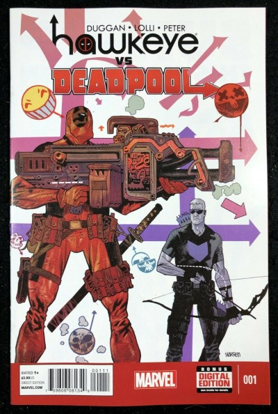 Hawkeye vs Deadpool (2014) #1 NM (9.4) cameo app Gwenpool