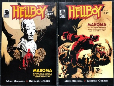 Hellboy Makoma (2006) #1 2 NM (9.4) complete set Mike Mignola Richard Corben
