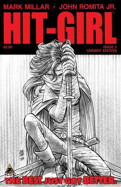 Hit-Girl (2012) #2 VF/NM-NM John Romita Jr Sketch 1:25 Variant Cover Icon