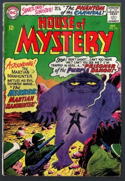 House of Mystery (1952) #154 GD+ (2.5) Martian Manhunter