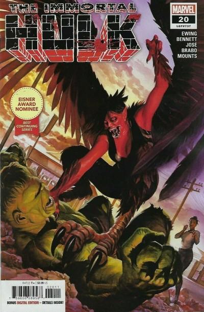 Immortal Hulk (2018) #20 (#737) VF/NM Secret Carnage Blood Logo Variant Cover