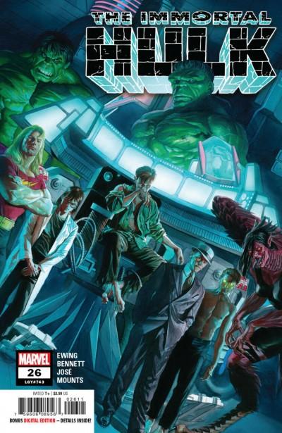 Immortal Hulk (2018) #26 (#743) VF/NM Alex Ross Cover