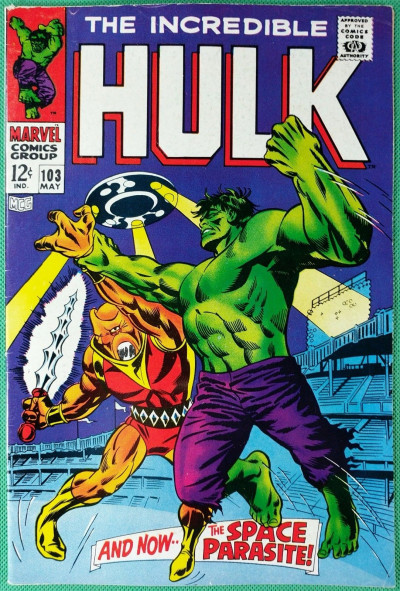 Incredible Hulk (1968) #103 FN (6.0) vs Space Parasite