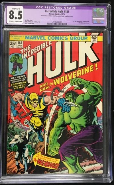 Incredible Hulk (1968) #181 CGC 8.5 (C-1) 1st app Wolverine (2015095002)