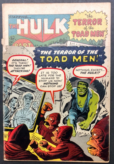 Incredible Hulk (1962) #2 PR (0.5) 1st app Green Hulk missing logo Kirby Ditko