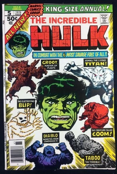 Incredible Hulk (1968) Annual #5 VF- (7.5) 2nd app Groot