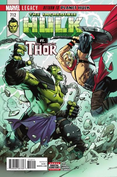 Incredible Hulk (2017) #712 VF/NM Hulk Thor Battle Cover Planet Hulk Part 4
