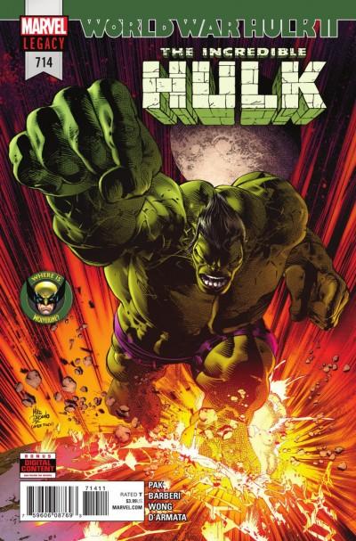 Incredible Hulk (2017) #714 VF/NM World War Hulk II
