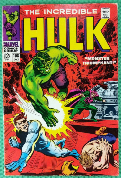 Incredible Hulk (1968) #108 VG/FN (5.0) vs Mandarin & Nick Fury app