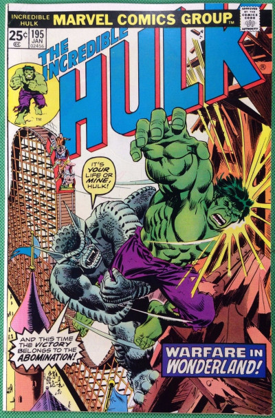Incredible Hulk (1968) #195 FN/VF (7.0) Abomination battle cover