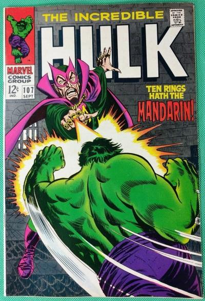 Incredible Hulk (1968) #107 VF- (7.5) vs Mandarin