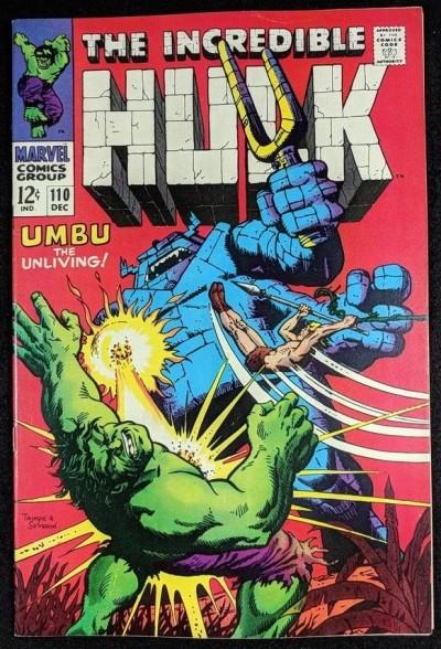 Incredible Hulk (1968) #110 VF+ (8.5) Ka-Zar story  part 2 of 2